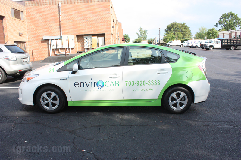Prius Envirocab Arlington VA wrapped by TGRACKS.COM